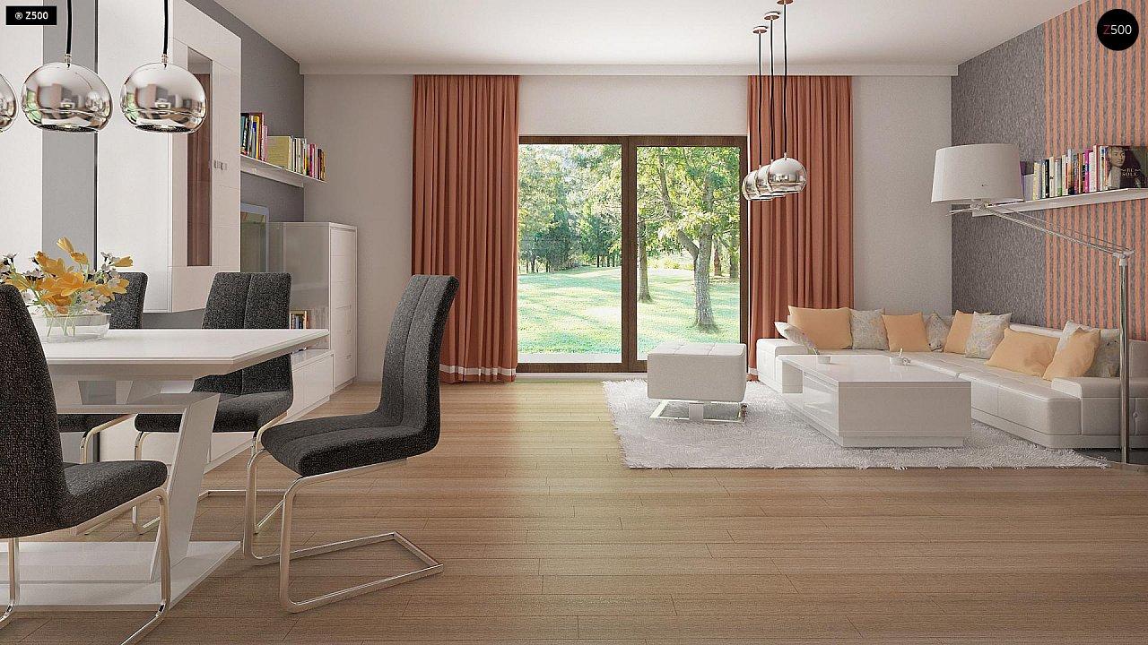 Стильный современный дом с пятью спальнями и гаражом. 5