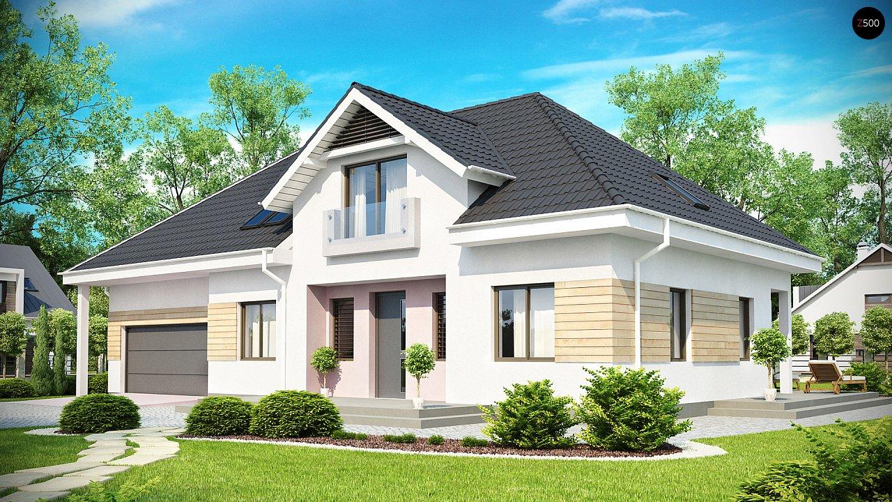 Комфортный стильный дом с большим гаражом для двух автомобилей и дополнительной комнатой над ним. 1