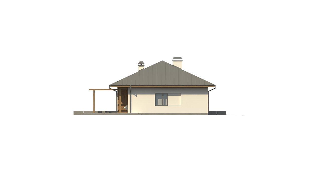 Вариант одноэтажного дома Z176 с гаражом справа на одну машину. - фото 27