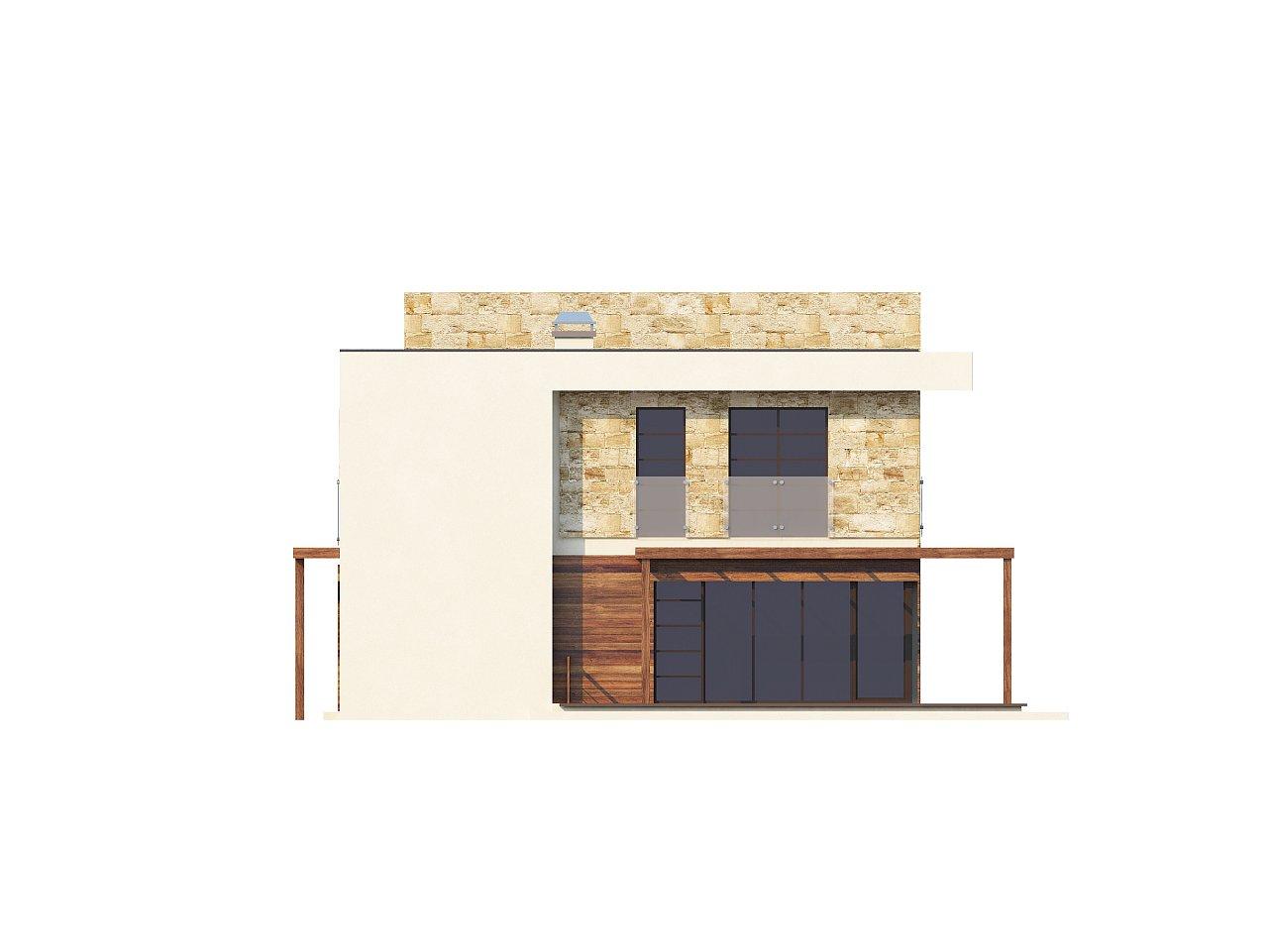 Двухэтажный дома в стиле модерн с практичным интерьером и гаражом для двух автомобилей. 8
