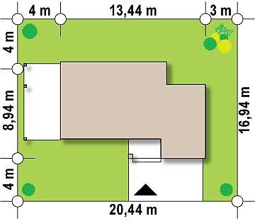 Современный элегантный дом с гостиной с фронтальной стороны. план помещений 1