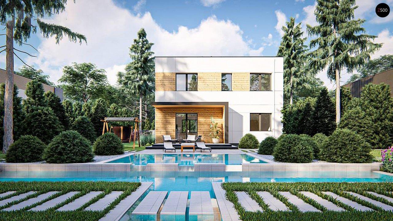 Современный двухэтажный дом с плоской крышей 3