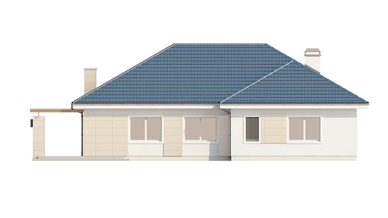 Практичный одноэтажный дом с гаражом для одной машины и возможностью адаптации чердачного помещения. - фото 5
