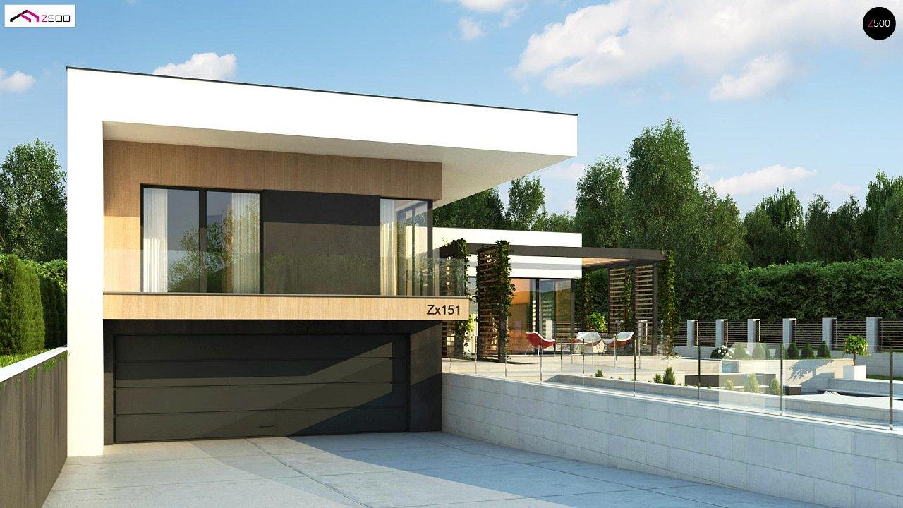 Проект современного двухэтажного дома с большой площадью. остекления. - фото 6