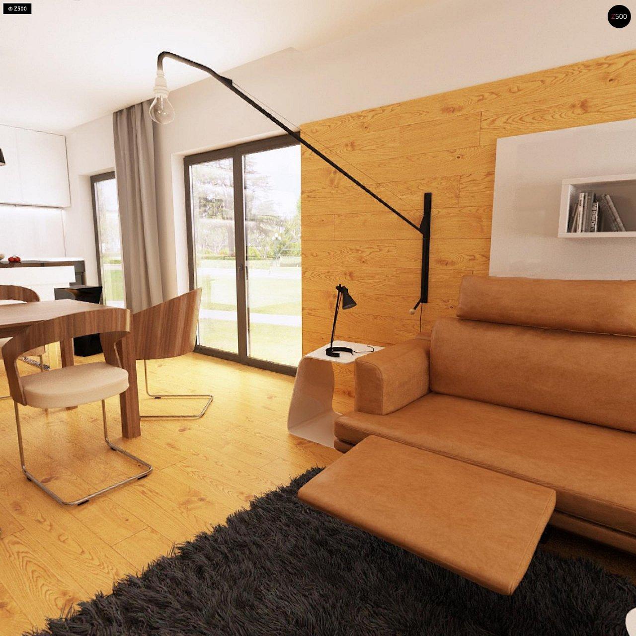 Одноэтажный дом модернистского характера с гаражом для двух автомобилей. 8