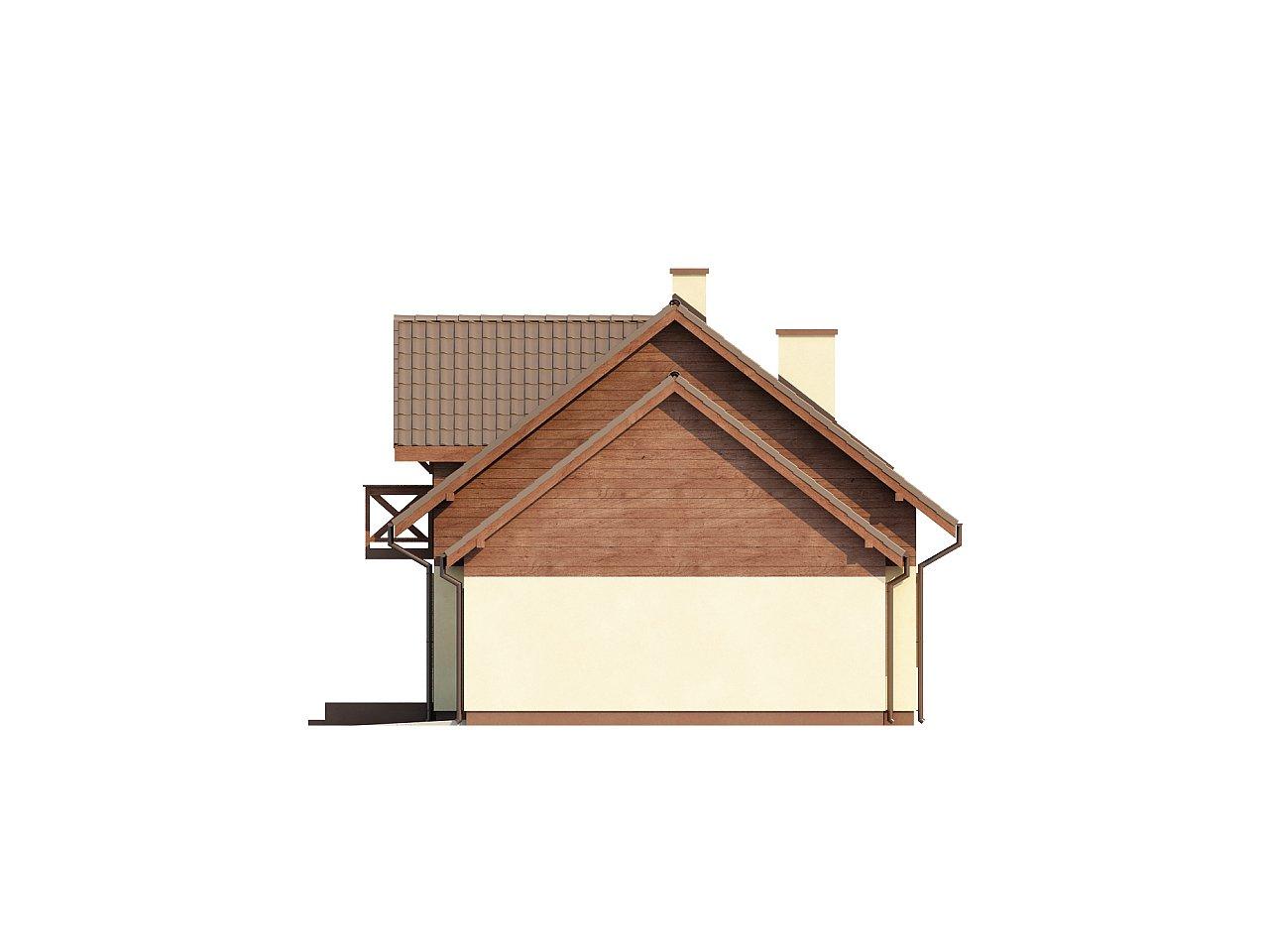 Практичный дом с гаражом, с красивым мансардным окном и боковой террасой. 6