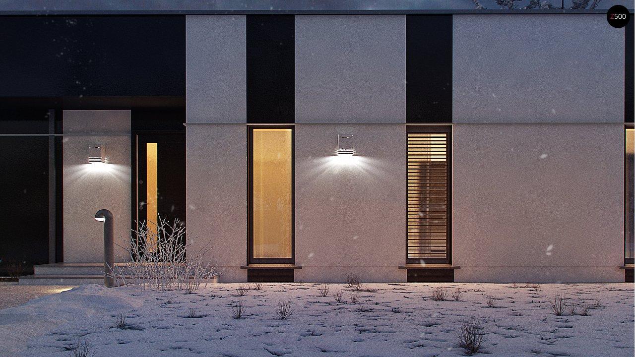 Одноэтажный комфортный дом в стиле хай-тек. 8