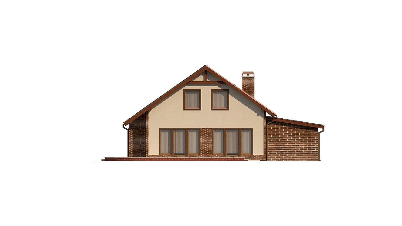 Проект мансардного дома - вариант Z63 c внесенными изменениями в планировку и гаражом для 1 авто 4