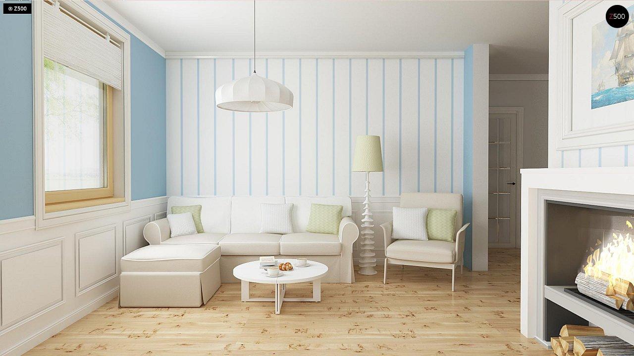 Функциональный и уютный дом с дополнительной спальней на первом этаже. Простой и экономичный в строительстве. 3