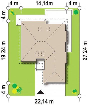 Практичный одноэтажный дом с гаражом, с возможностью адаптации мансарды. план помещений 1