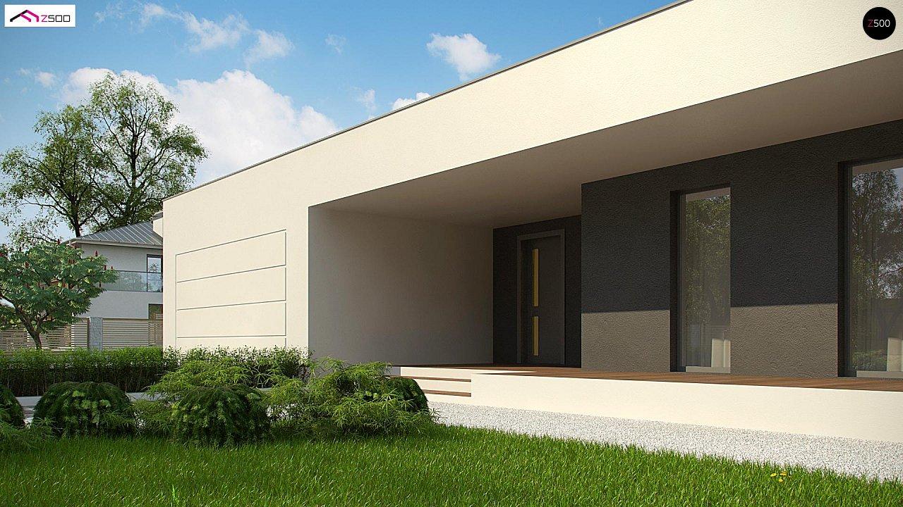Современный дом с 4 спальнями, гаражом на 2 машины и большими окнами 3
