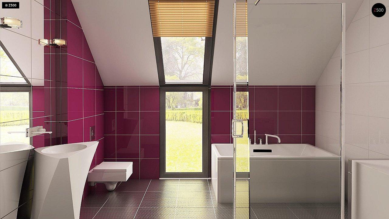 Дом простой энергосберегающей формы со светлым интерьером, подходящий для узкого участка. - фото 9