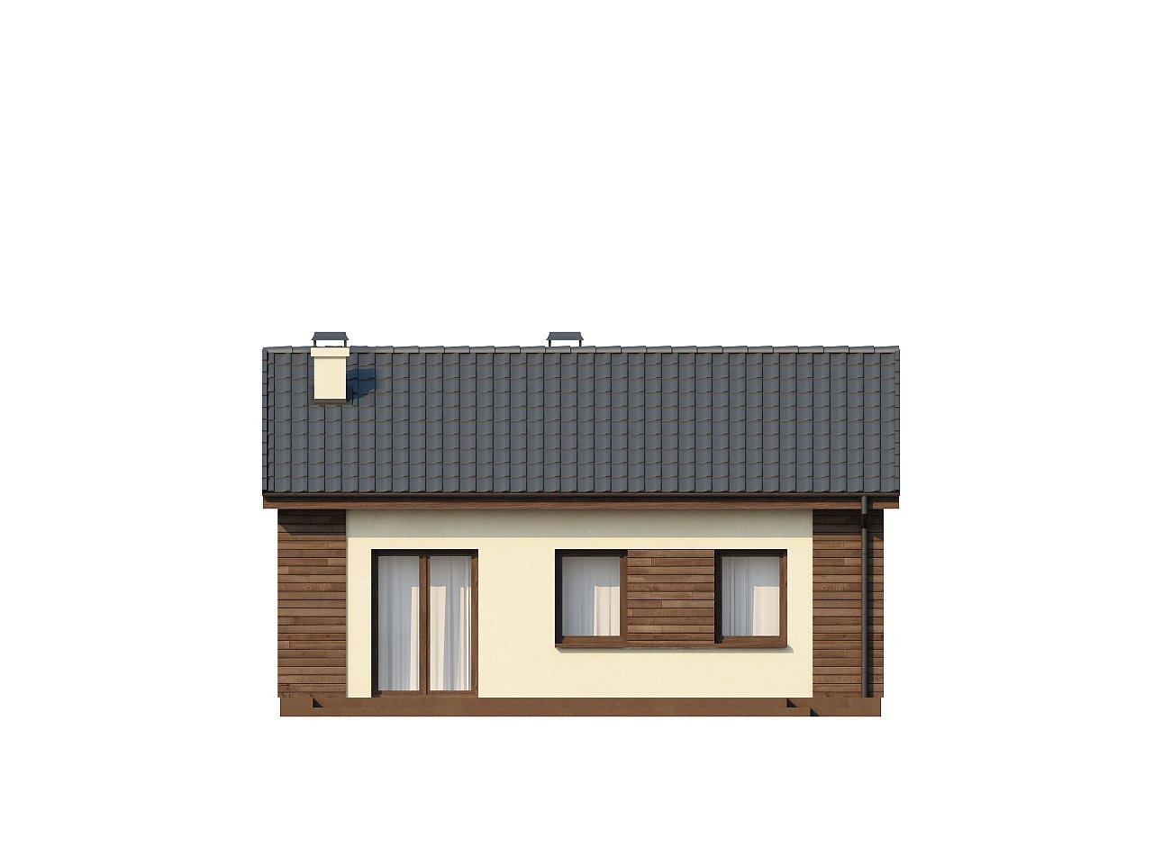 Маленький одноэтажный дом с двускатной кровлей, недорогой в строительстве и эксплуатации. - фото 15