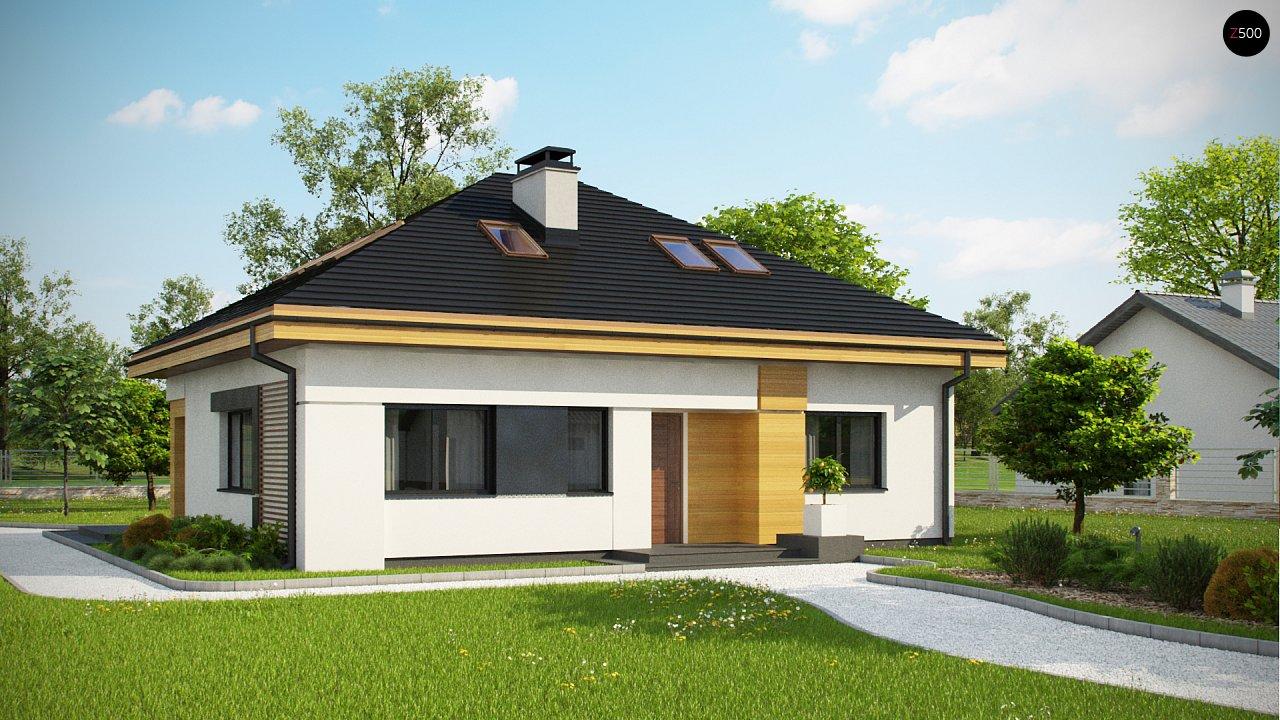 Версия проекта Z273 с жилой мансардой, с увеличенной высотой аттиковой стены. - фото 1