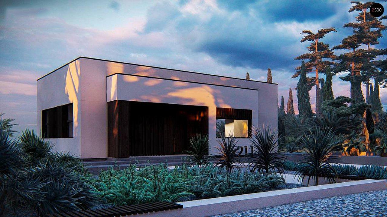 Современный одноэтажный дом с плоской крышей 2