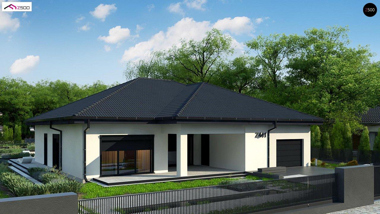 Одноэтажный дом с просторной гостиной и открытой кухней 3