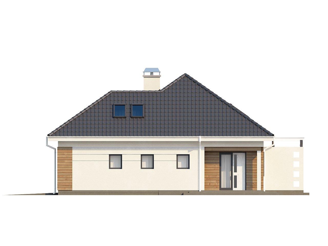 Просторный дом традиционной формы с гаражом и дополнительной небольшой ночной зоной на первом этаже. - фото 16
