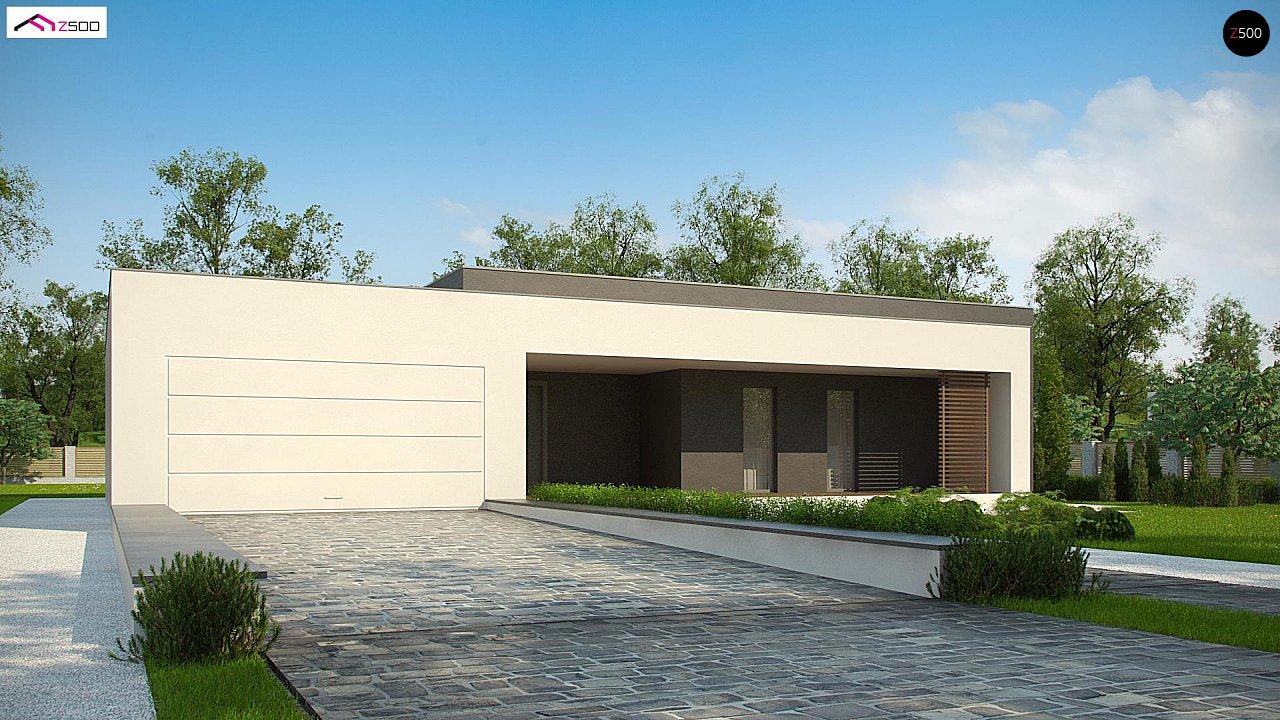 Современный дом с 4 спальнями, гаражом на 2 машины и большими окнами 1