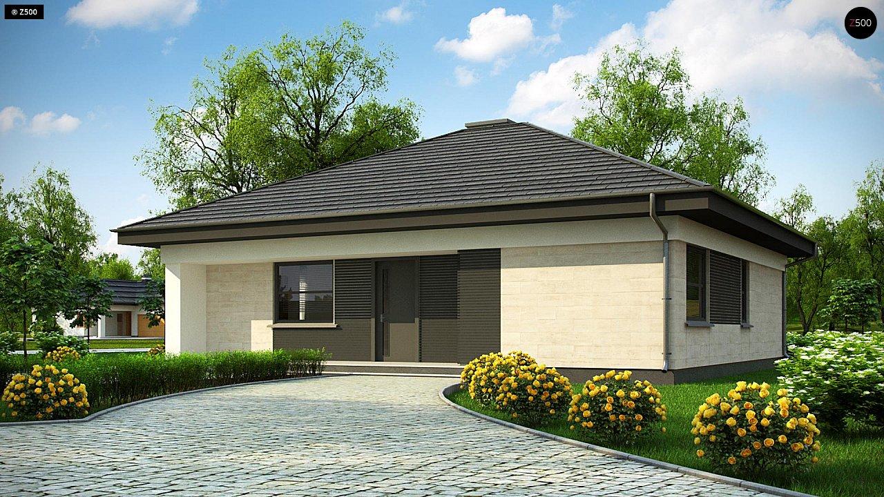 Проект компактного и функционального одноэтажного дома 1