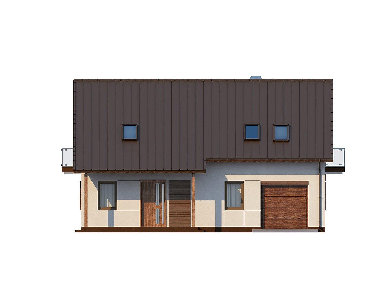 Практичный дом с мансардой, встроенным гаражом и дополнительной спальней на первом этаже. - фото 3