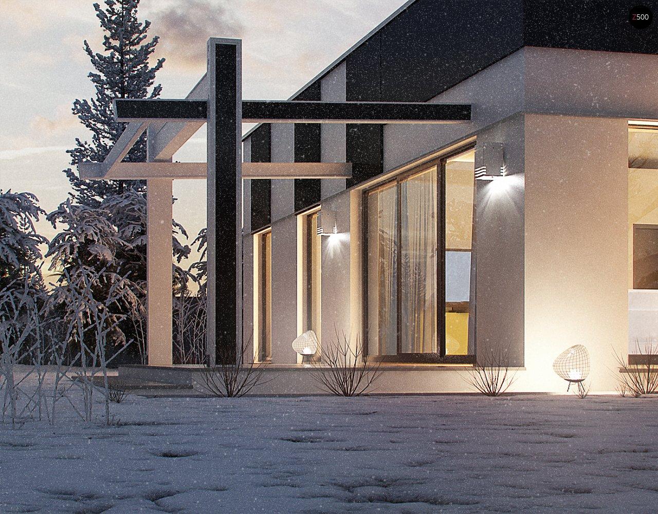 Одноэтажный комфортный дом в стиле хай-тек. 12