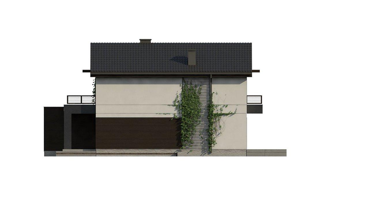 Проект двухэтажного дома в современном стиле, подойдет для строительства на узком участке. - фото 10