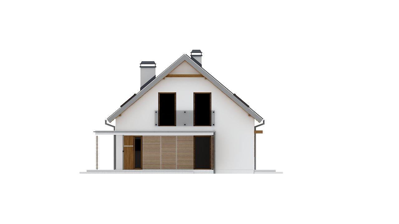 Аккуратный дом простой традиционной формы с гаражом и дополнительной спальней на первом этаже. 23
