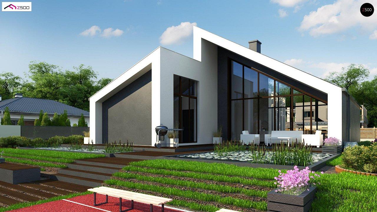 Современный дом с просторной гостиной и большим остеклением - фото 3