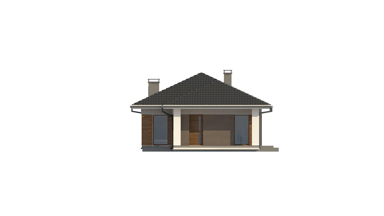 Одноэтажный дом в традиционном стиле с просторной гостиной - фото 6