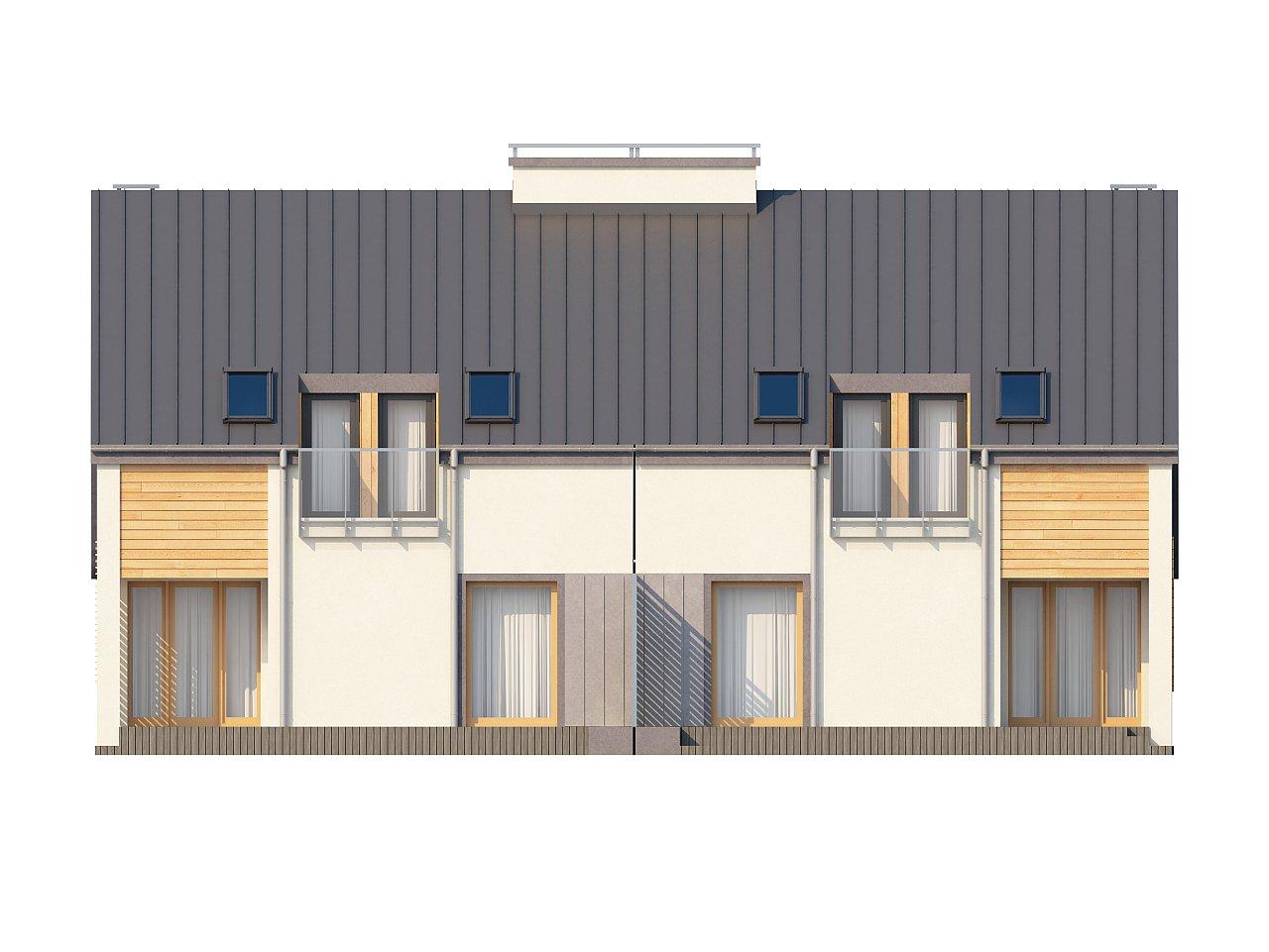Проект стильного, функционального и недорогого двухсемейного дома. 22