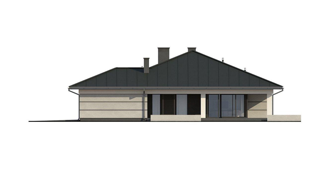 Проект одноэтажного дома с гаражом на две машины - фото 17