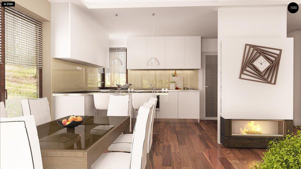 Версия проекта Z150 с гаражом вместо дополнительного помещения. 9