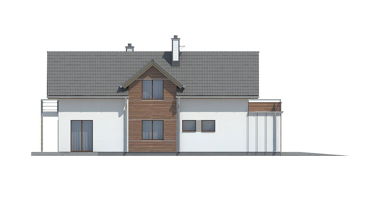 Функциональный и привлекательный дом с гаражом для узкого участка. 18