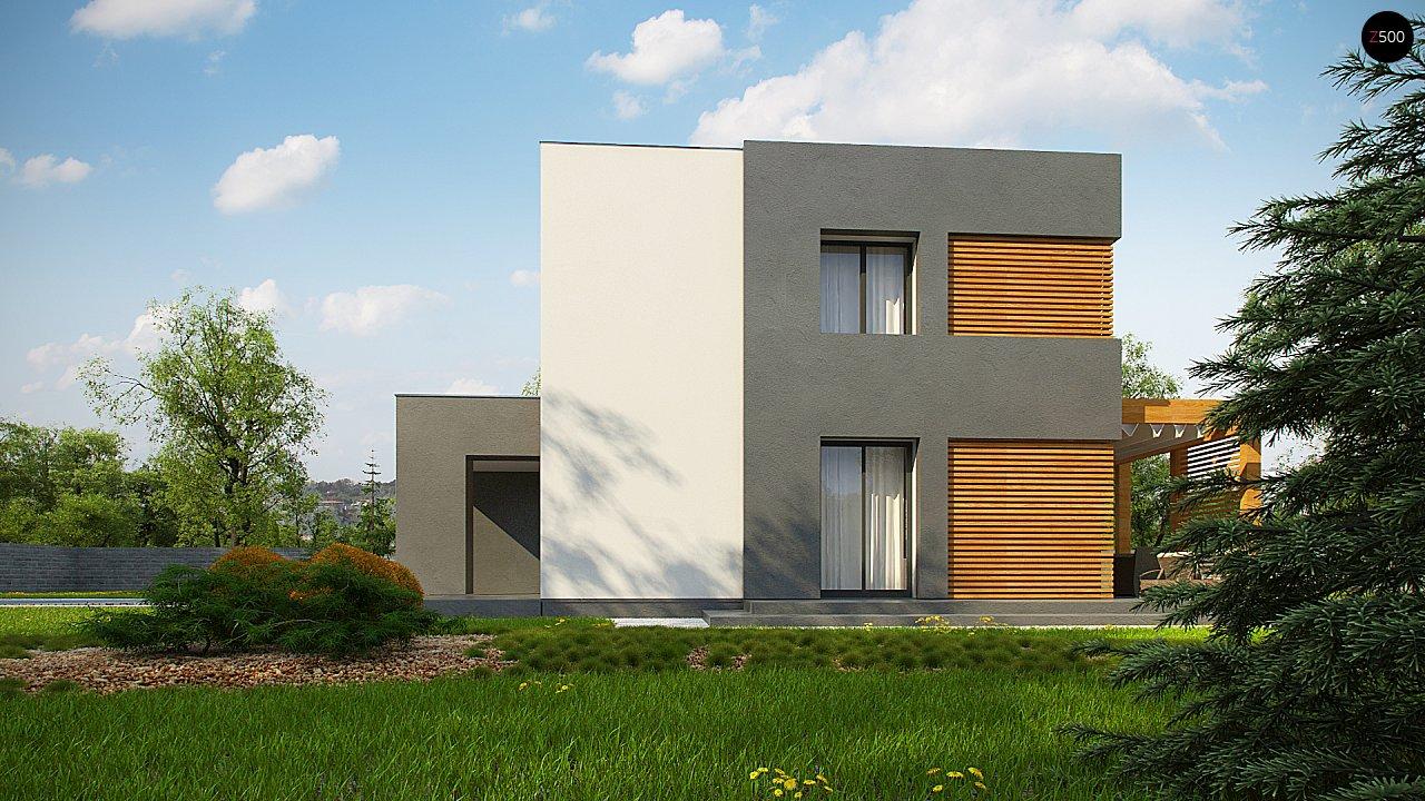 Двухэтажный коттедж современного лаконичного дизайна 4