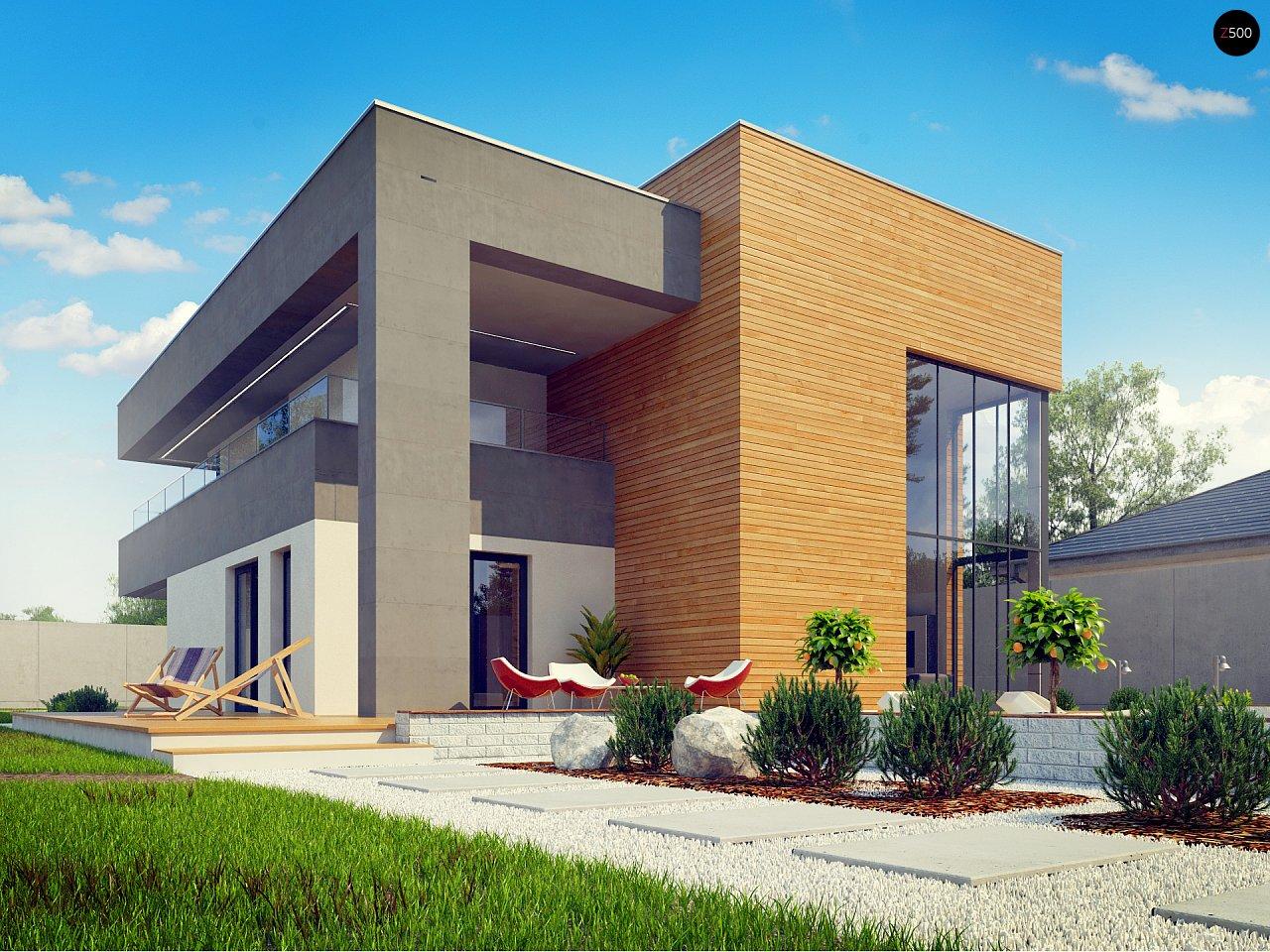 Современный двухэтажный дом с большой площадью остекления. - фото 16