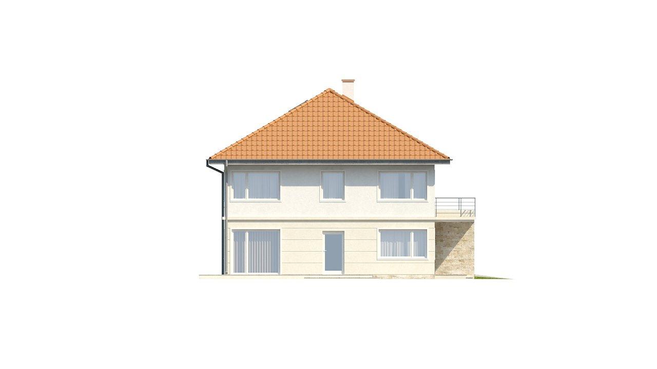 Проект просторного двухэтажного дома для симметричной застройки с террасой над гаражом. 17