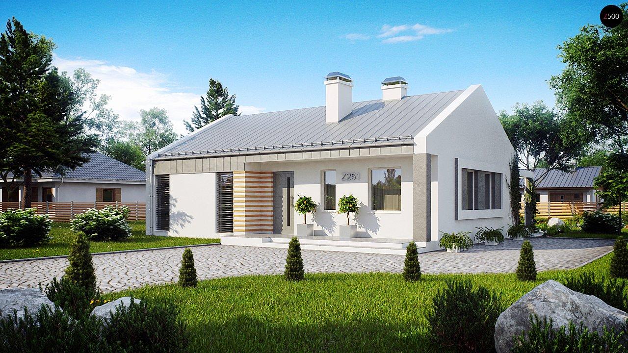 Простой и недорогой в строительстве энергосберегающий дом современного дизайна. 2