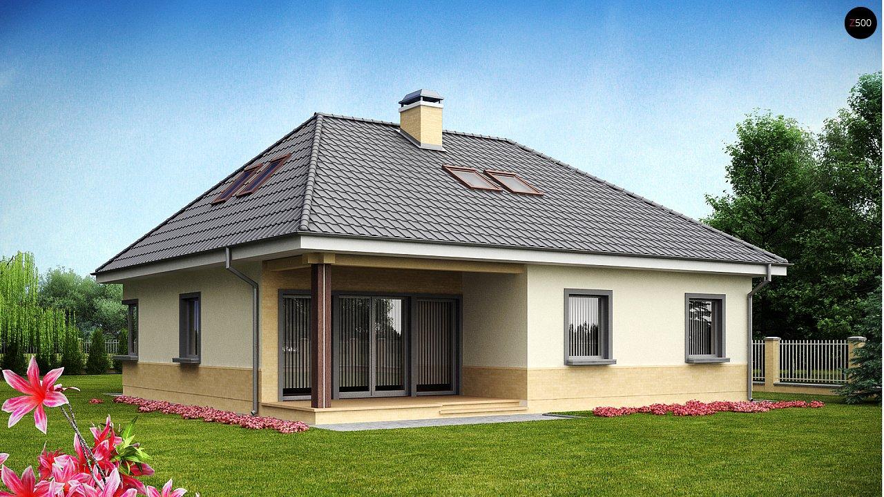 Традиционный дом с мансардой, с большим углом наклона крыши. - фото 1
