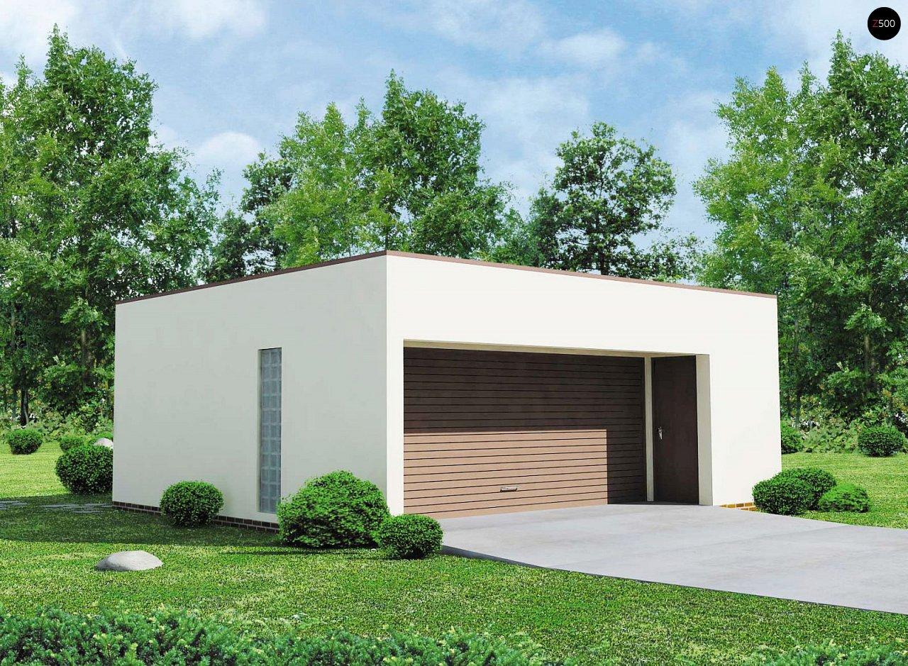 Проект гаража в стиле хай-тек для двух машин 1