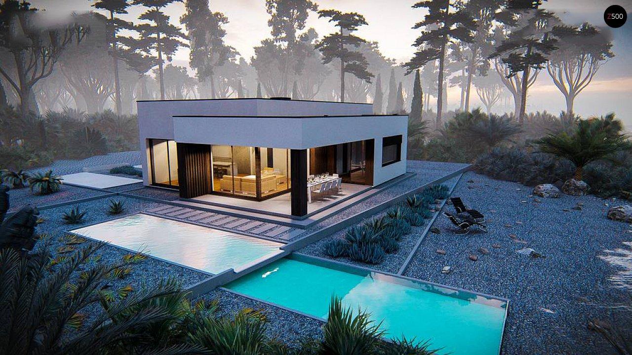 Современный одноэтажный дом с плоской крышей 4