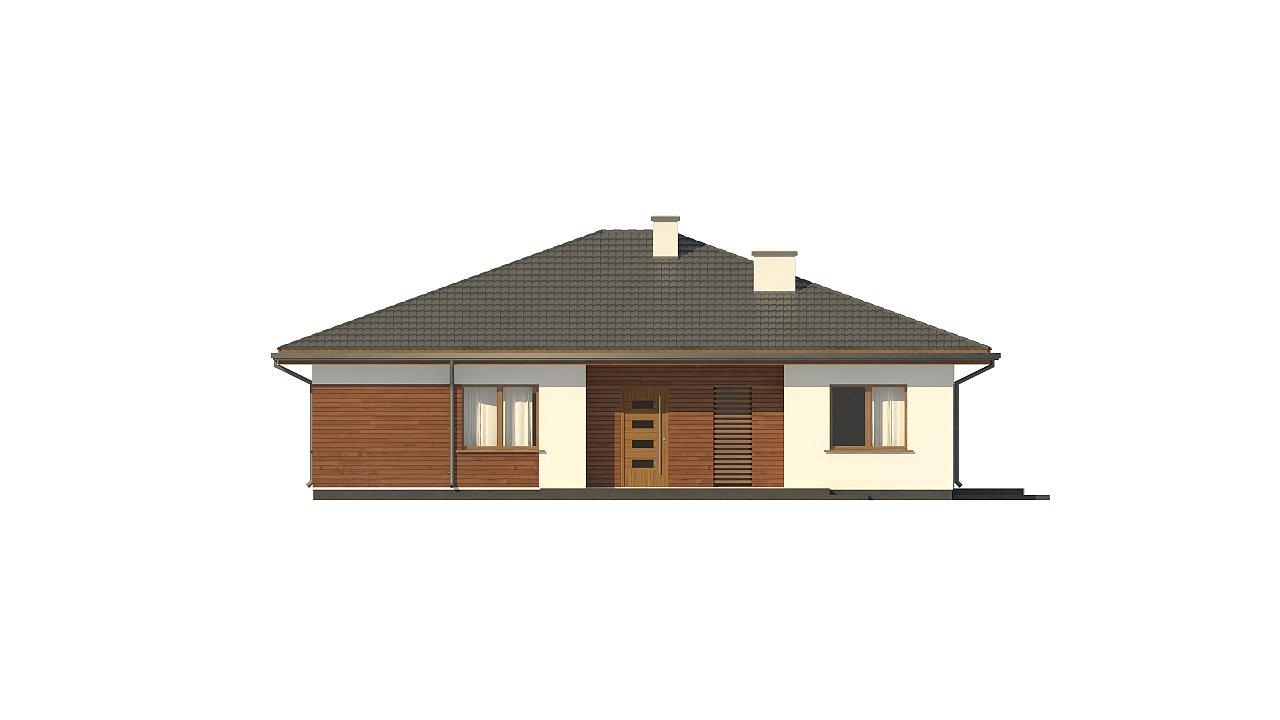 Стильный одноэтажный дом с комфортной крытой террасой 21