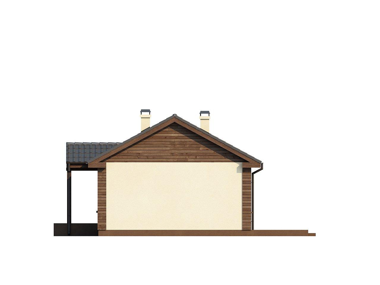 Маленький одноэтажный дом с двускатной кровлей, недорогой в строительстве и эксплуатации. - фото 16