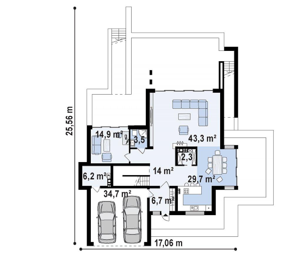 Трехэтажная современная резиденция с террасами и бассейном . план помещений 2