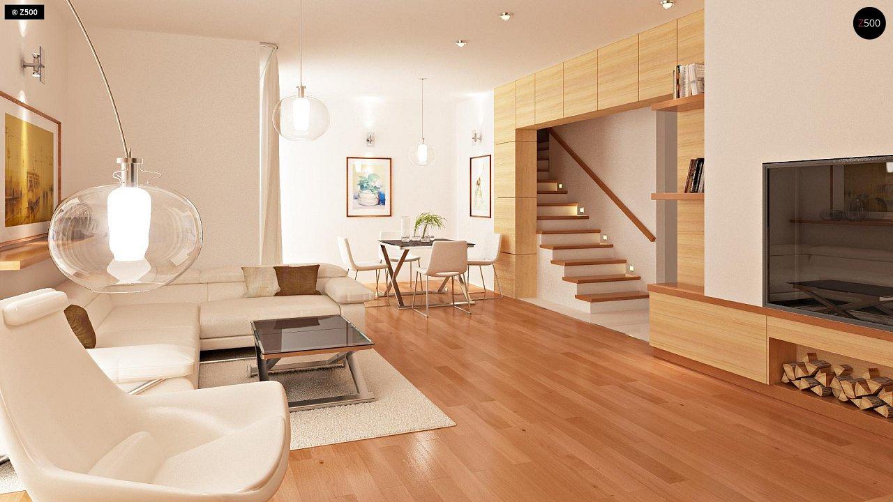 Проект стильного, функционального и недорогого двухсемейного дома. 5