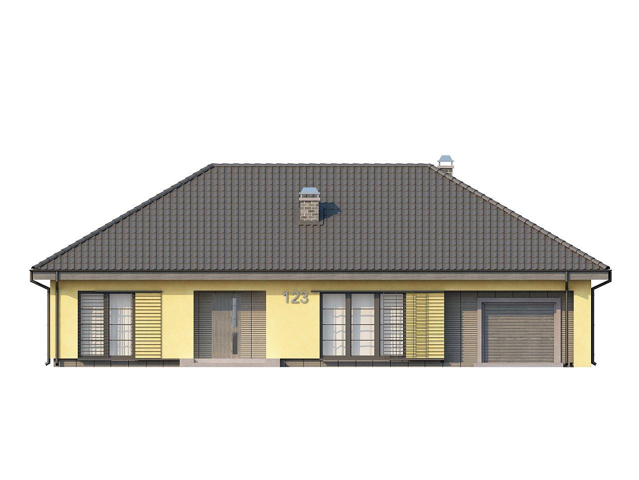 Одноэтажный дом традиционного характера с тремя удобными спальнями и встроенным гаражом. - фото 21