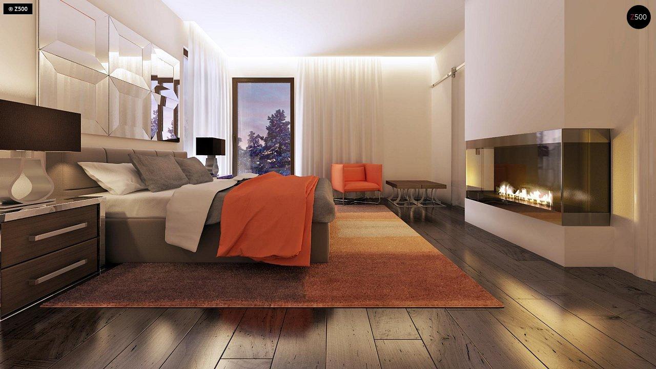 Дом характерного современного дизайна с гаражом и кабинетом на первом этаже. - фото 29
