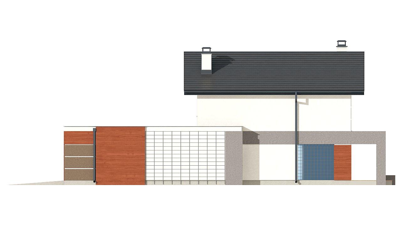 Вариант проекта Z297 с фронтальным гаражом, с изменениями в планировке. - фото 24