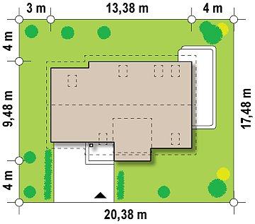 Проект дома с гаражом, с возможностью его использования в качестве двухсемейного. план помещений 1