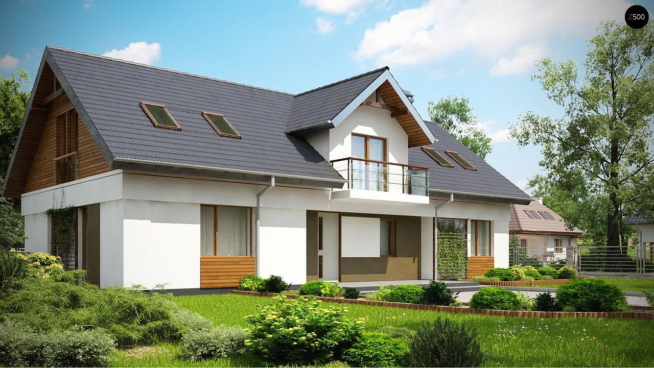 Практичный двухквартирный дом с общими входом и техническим помещением. 1