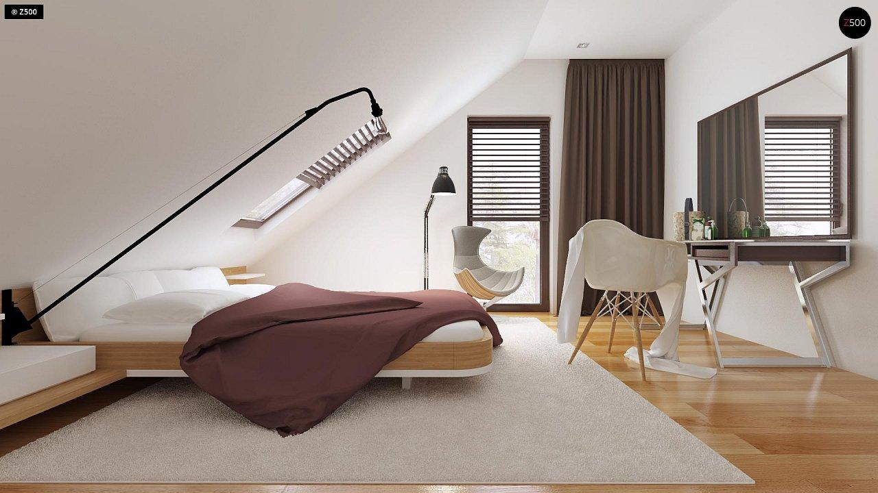 Небольшой дом с дополнительной комнатой на первом этаже, большим хозяйственным помещением и эркером в столовой. 10